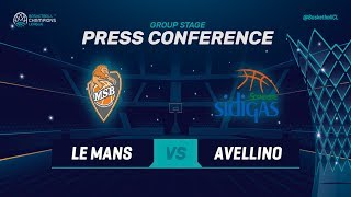 Le Mans v Sidigas Avellino - Press Conference - Basketball Champions League 2018-19
