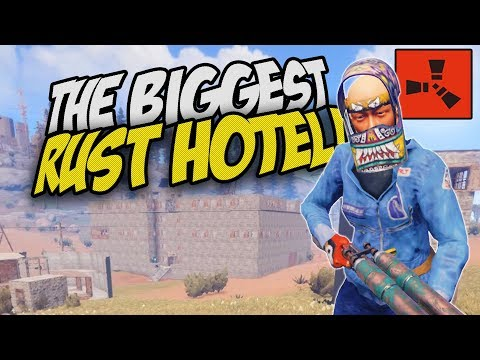 VISITING THE BIGGEST HOTEL in ALL OF RUST!?! - Rust