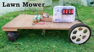 How to Make a Lawn Mower / Grass Cutter at Home thumbnail