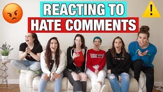 REACTING TO HATE COMMENTS MP3