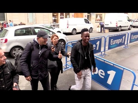 EXCLUSIVE: Black M attending a show at Europe 1 radio station in Paris
