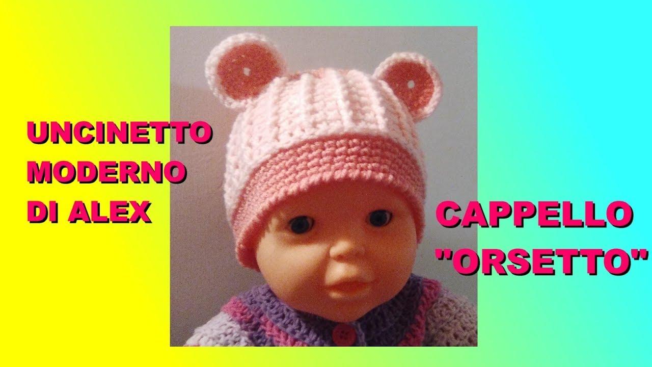 CAPPELLO UNCINETTO BAMBINO CON ORECCHIE