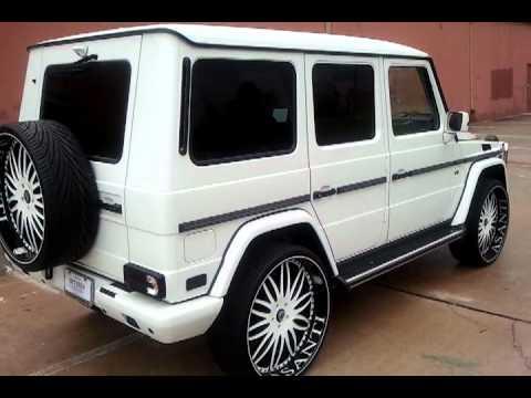 Mercedes G Wagon Blacked Out >> RIMSTARZ KUSTOMZ G550 (G-Wagon) on Asanti's!! - YouTube