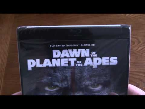 Dawn of the Planet of the Apes - 3D Blu-Ray + Bluray + Digital HD Unboxing and First Look (60fps)