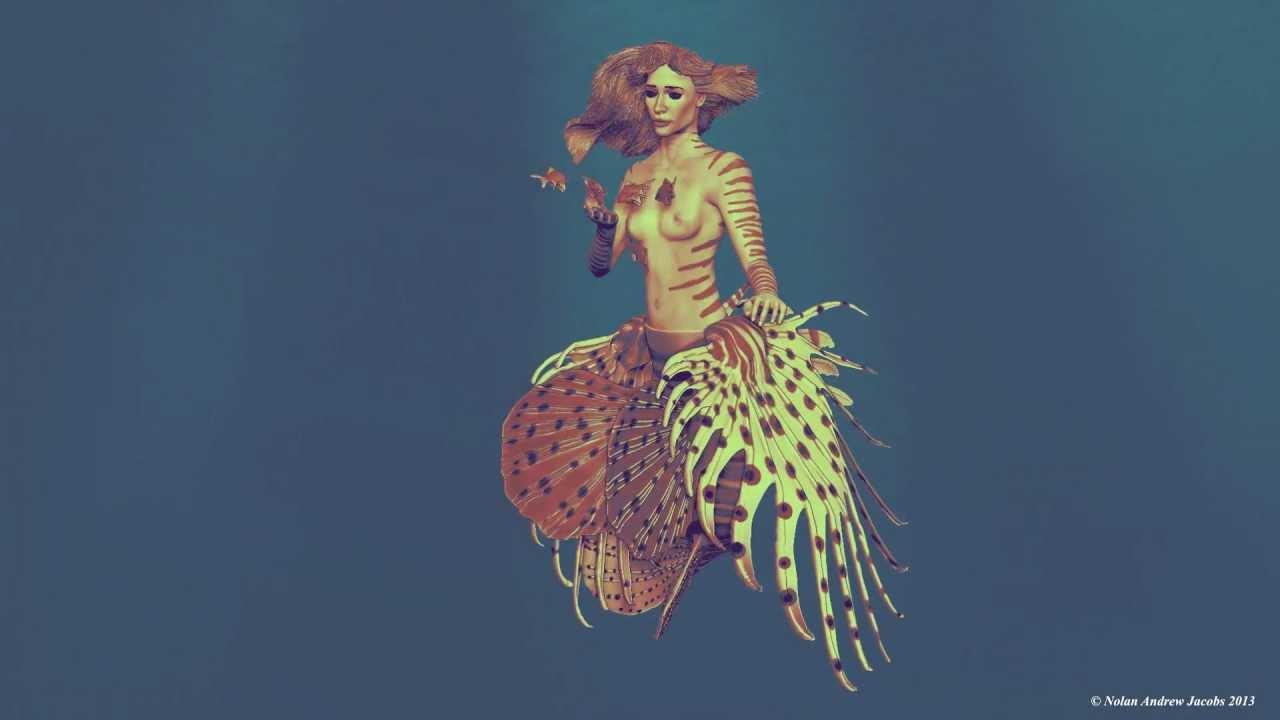 Atargatis Syrian Mermaid Goddess Zbrush - YouTube