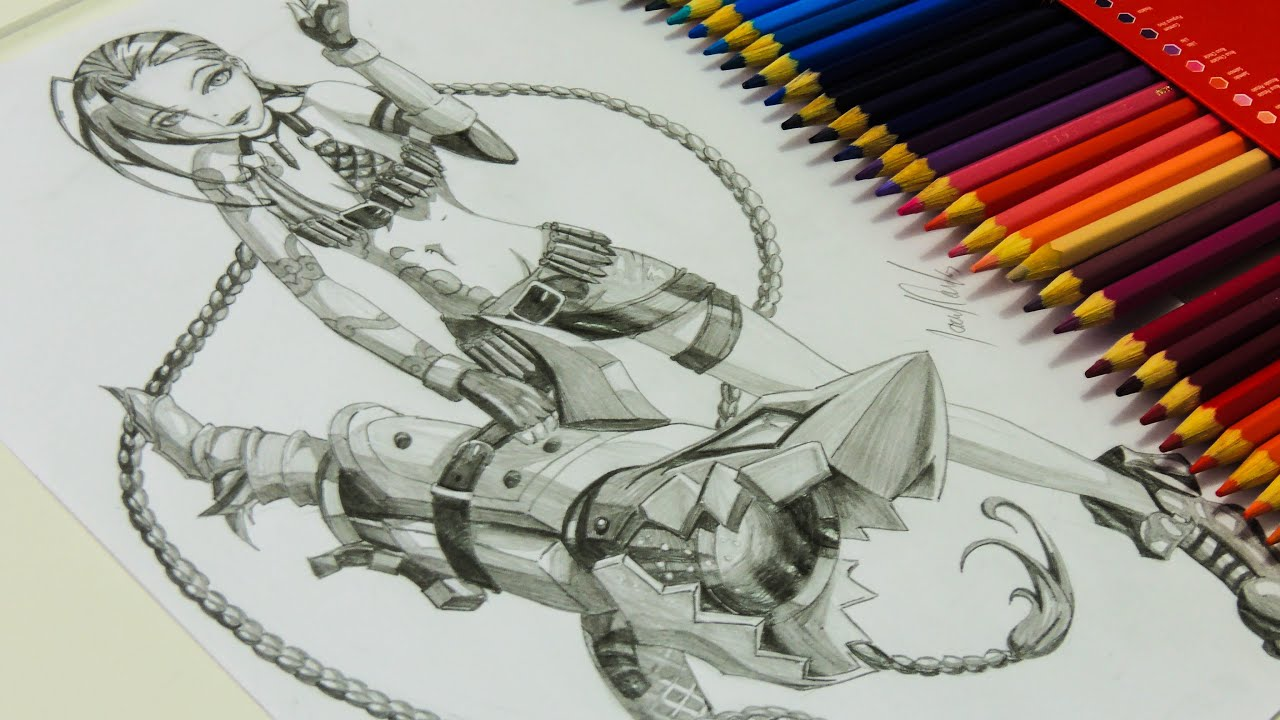 Desenho Gamer Desenhando A Jinx Do League Of Legends