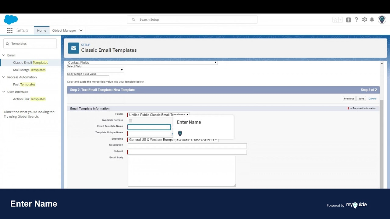 How To Create New Email Template In Salesforce Lightning Youtube