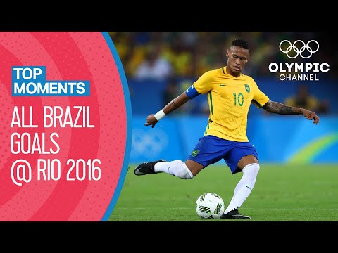 Every Brazil men's football goal at Rio 2016 | Top Moments