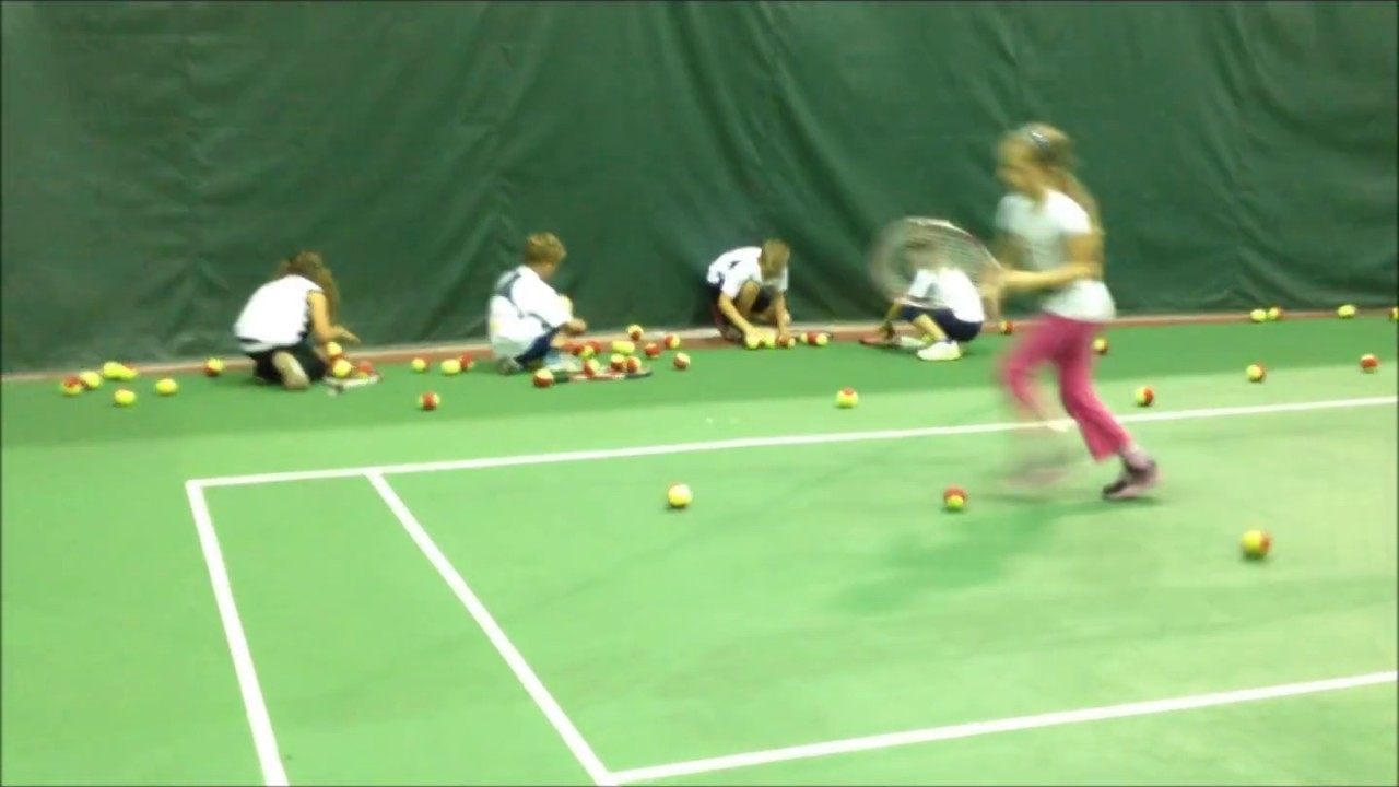 Group Tennis Lessons For Kids 4 10 Years Old Youtube