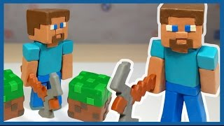 Лепим Стива. Майнкрафт из пластилина.  MineCraft of plasticine.