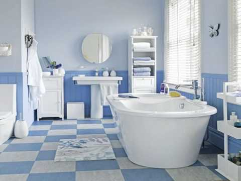 Blue Tiles For Bathroom Wall Design Ideas YouTube - Tiles for bathroom walls and floors