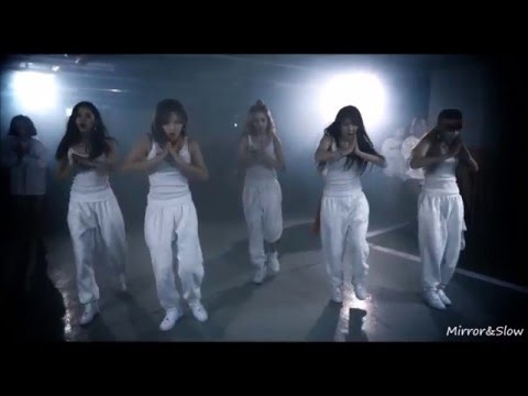 [Mirrored and Slow 75%] 4MINUTE - Hate Dance Practice