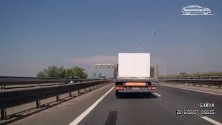видео Volvo Trucks - Emergency braking at its best!