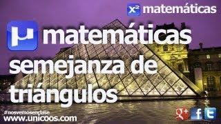 Semejanza de triangulos 01 SECUNDARIA (3ºESO) matematicas razon