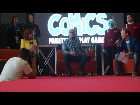 ROBERT PICARDO speaks Italian, Torino-Comics Interview pt 1