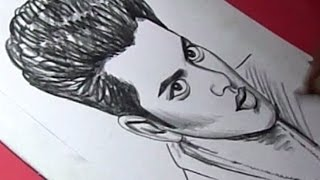 How to Draw pop singer Bruno Mars Drawing