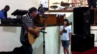 Grandfather & granddaughter duet at the Lighthouse Temple with Brother James Milcher