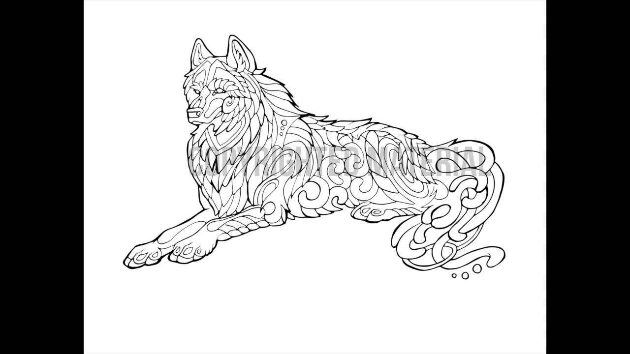 Howl Coloring Book Interior