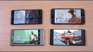 iPhone 8 Plus vs Note 8 vs Nokia 8 vs Xperia XZ Premium - Gaming Comparison!