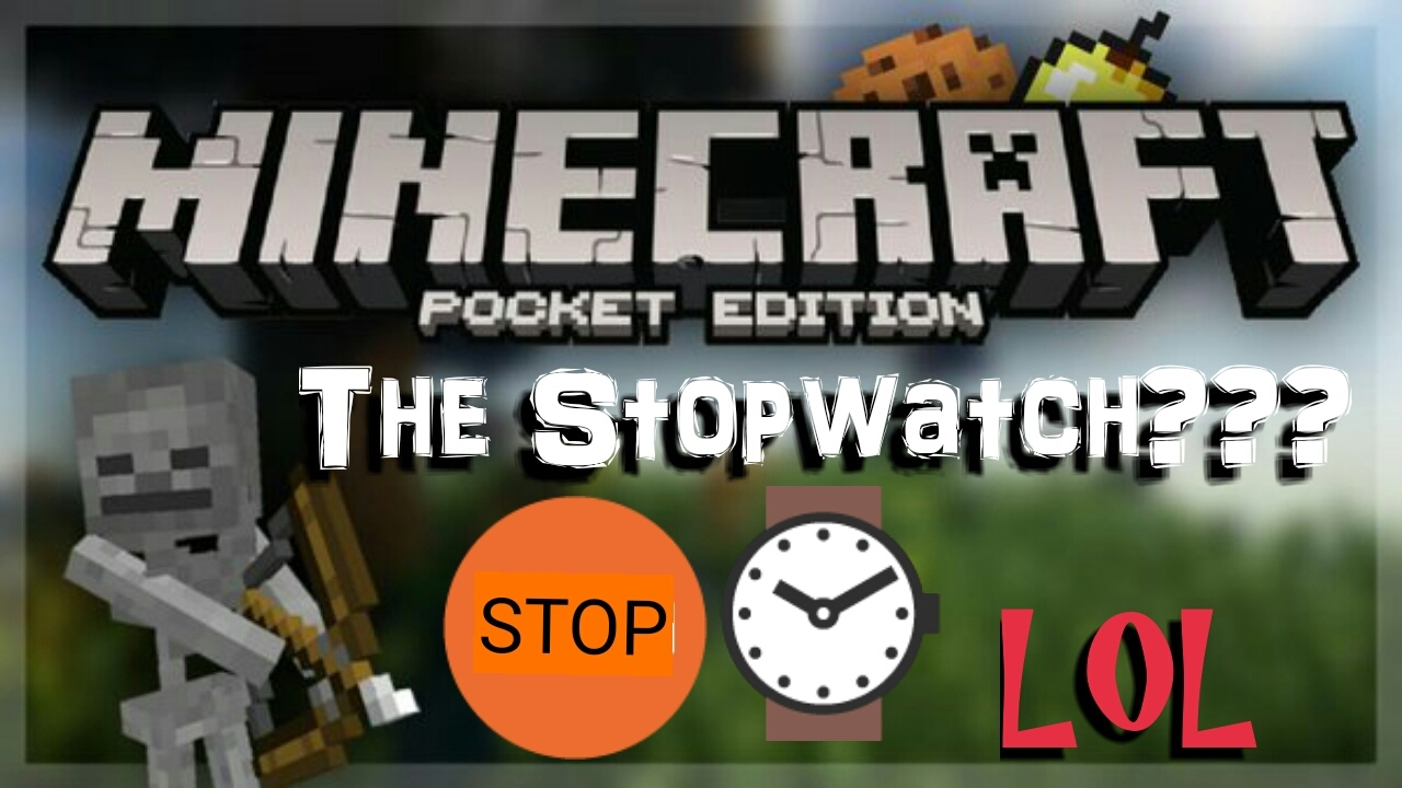 how to make a minecraft stopwatch