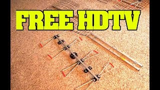 Detailed instructions on how to Install an over the air TV Antenna for free HDTV