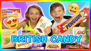 BRITISH CANDY TASTE TEST! | We Are The Davises