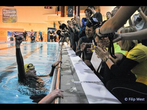 Riga Freediving Cup 2017 DNF 185 m NR Alexey Potapenko