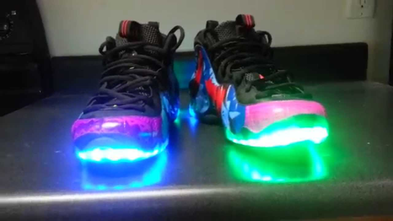 62717534bbbd7 What The Le  Foams Nike Foamposite Custom - YouTube
