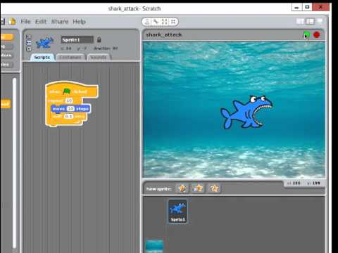 Scratch Programming - Shark Attack Game 3
