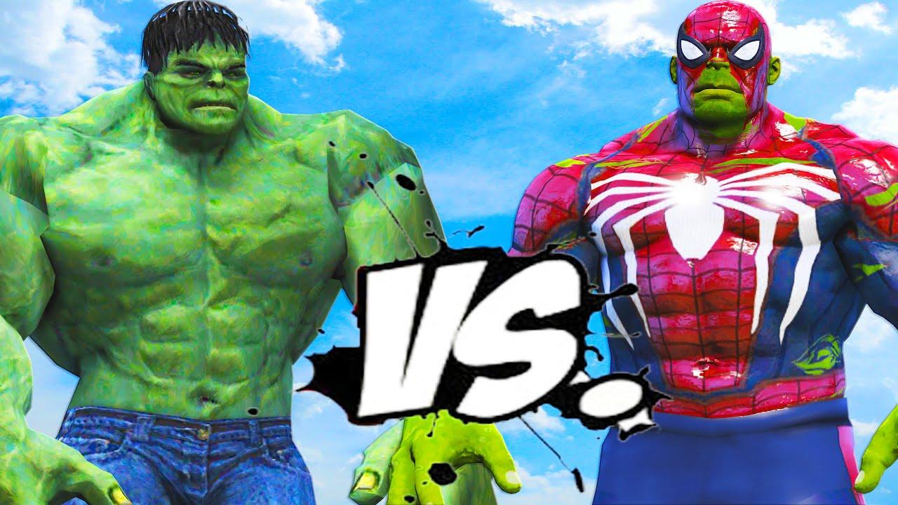 THE INCREDIBLE HULK VS HULK - SPIDERMAN - YouTube