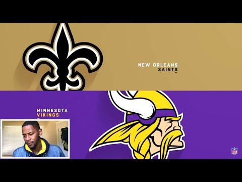 Saints vs Vikings Week 8 Highlights  NFL 2018 🏈 REACTION