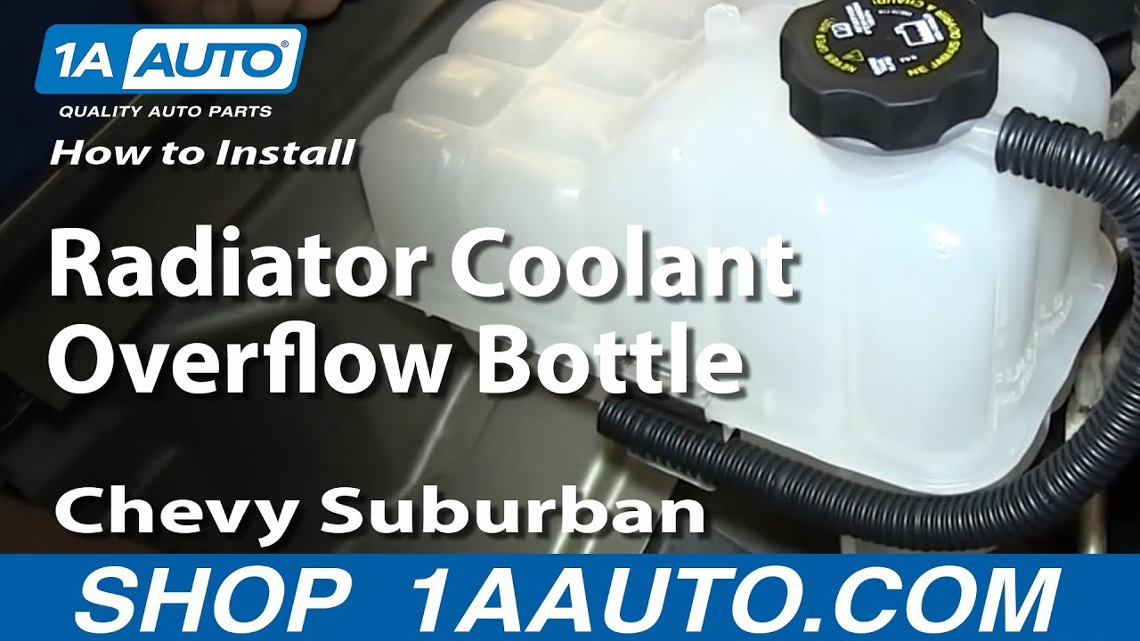 small resolution of how to replace coolant overflow tank 99 06 chevy silverado