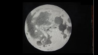 Realistic Moon with Pencil - ComeTube