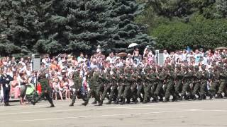 Торжественный марш 247 полка. День ВДВ  в  г.Ставрополь. 2015г.