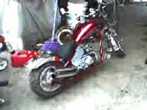 49cc mini harley davidson motorcycle youtube. Black Bedroom Furniture Sets. Home Design Ideas