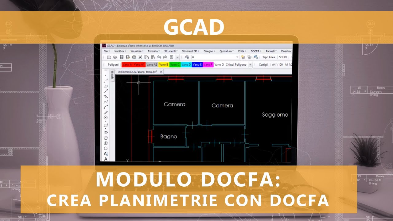 Creare planimetrie docfa da disegni dwg youtube for Software per planimetrie