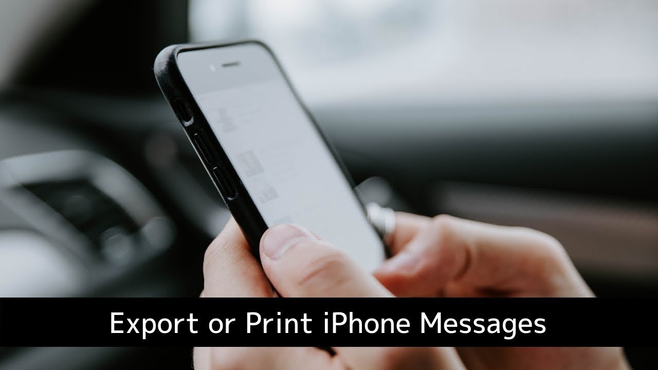 Transfer iPhone messages (SMS), MMS, and iMessages to your