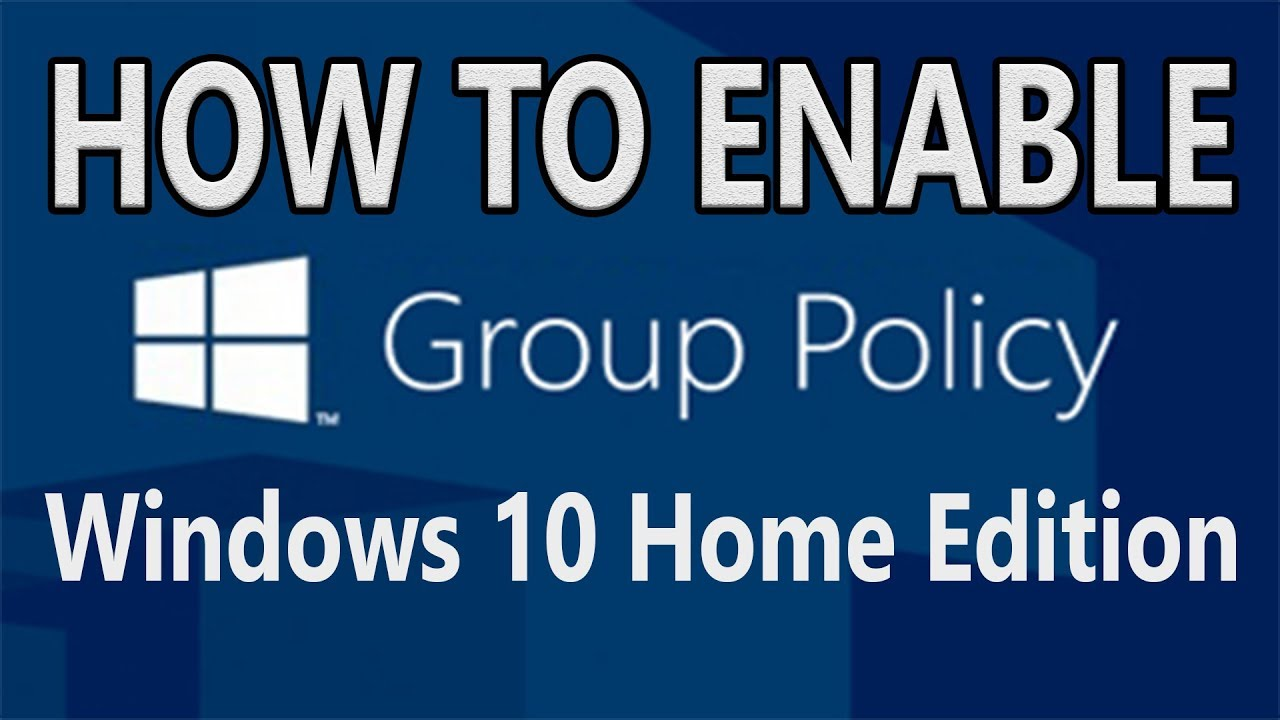 [Solved] How to enable Group Policy in Windows 10 Home Edition | Unable to  set Password Policy