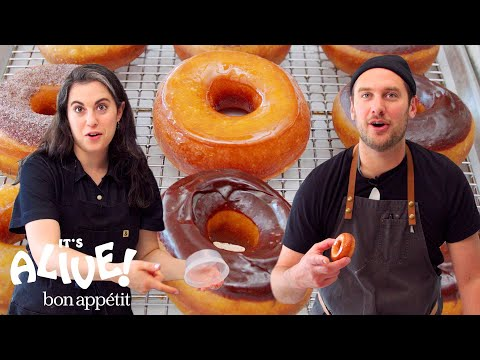 Brad and Claire Make Doughnuts Part 3: Redemption | It's Alive | Bon Appétit