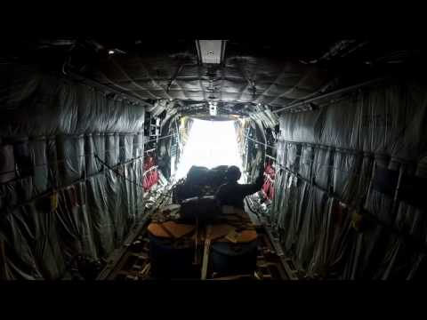 C130 Hercules Heavy Equipment Drop Load Clear