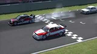 Amazing start on Alfa Romeo 155 V6 - Multiplayer vs Mercedes Benz 190 EVO II and BMW M3 E30 DTM