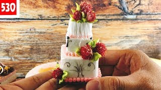 Mini cake-tiny cake wedding 3 floors-decorate amazing - bánh cưới 3 tầng mini-tí hơn đẹp (530)