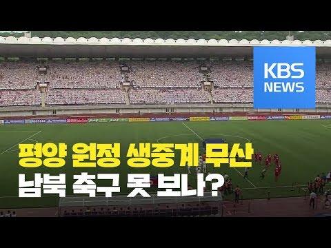 축구대표팀 29년 만에 평양 원정…생중계 사실상 무산 / KBS뉴스(News)