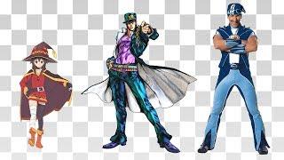 Comparación de Tamaños de Personajes del Anime