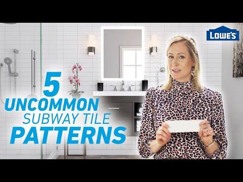 5 Uncommon Subway Tile Patterns /// Lowe's Design Basics
