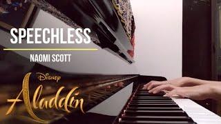 Speechless | Aladdin Soundtrack - Naomi Scott (piano + lyrics)