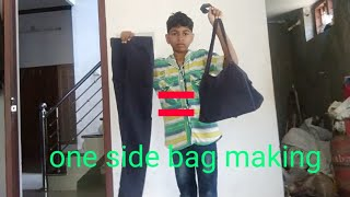 one side bag making Malayalam . KV TECH. തരംഗ ബാഗ് ഉണ്ടാക്കാം. ഇപ്പോഴത്തെ fashion bag