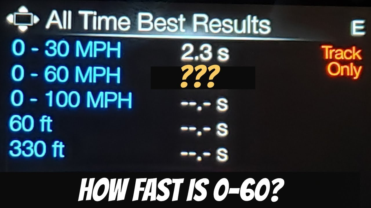 How Fast Does A Mustang Go 0 60
