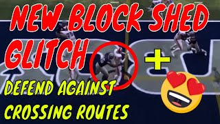 BEST BLOCK SHED GLITCH BLITZ IN MADDEN 19. PLUS HOW TO DEFEND AGAINST CROSSING ROUTES THE BEST 🔥