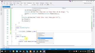 NNLT C# - Xử lý đọc ghi tập tin